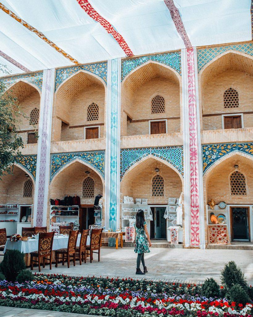 NADIR DIVAN-BEGI MADRASAH IN LYABI-HAUZ SQUARE in uzbekistan
