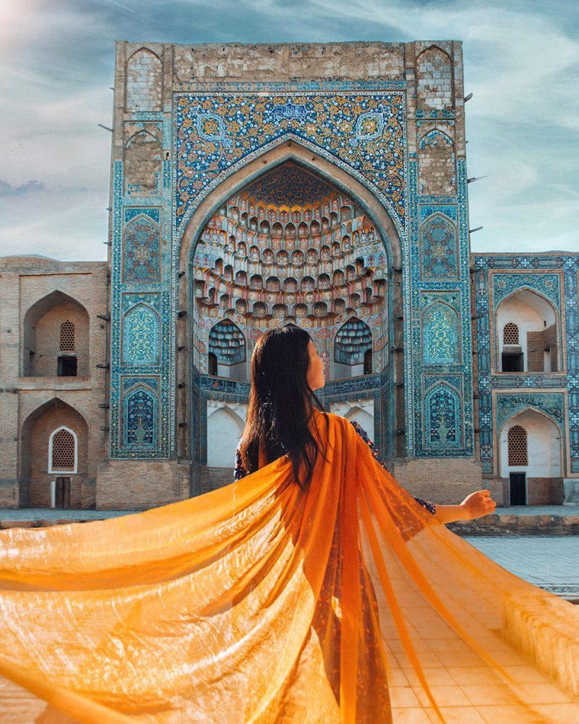 abdulaziz khan madrasah in bukhara uzbekistan