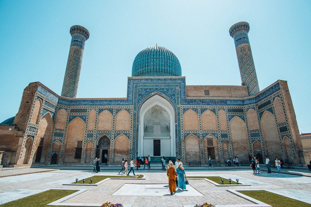 architecture of gur-e-amir mausoleum in samarkand