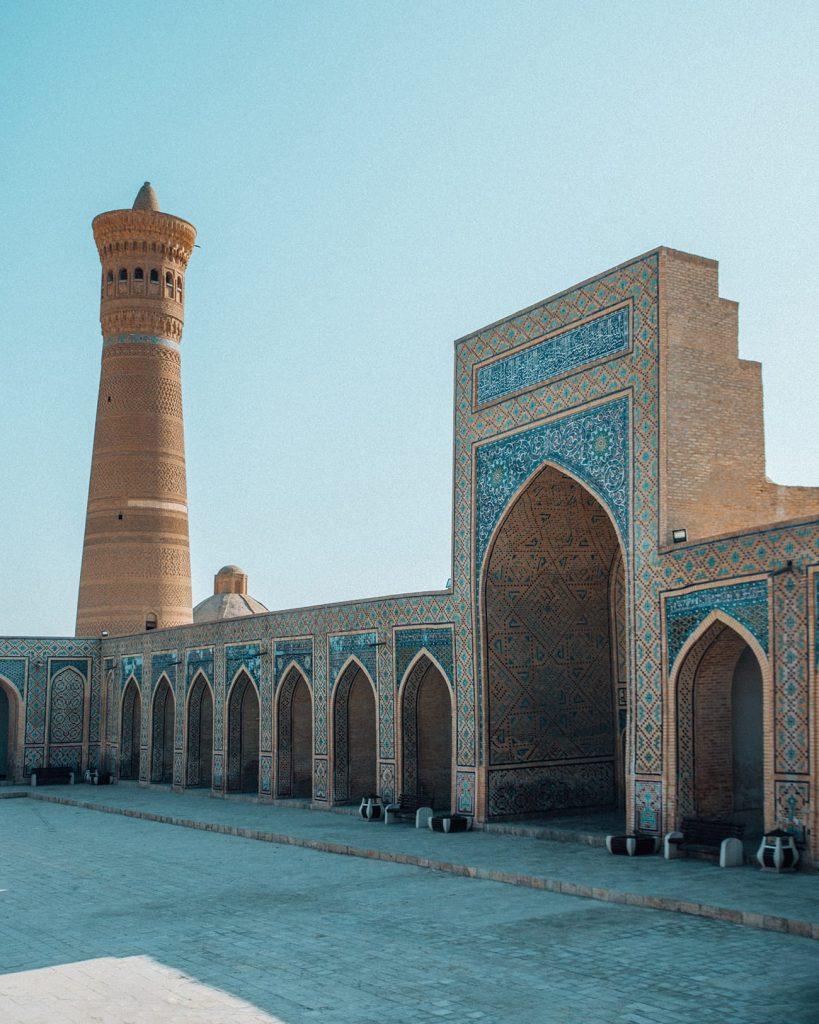 po i kalyan minaret complex in bukhara uzbekistan