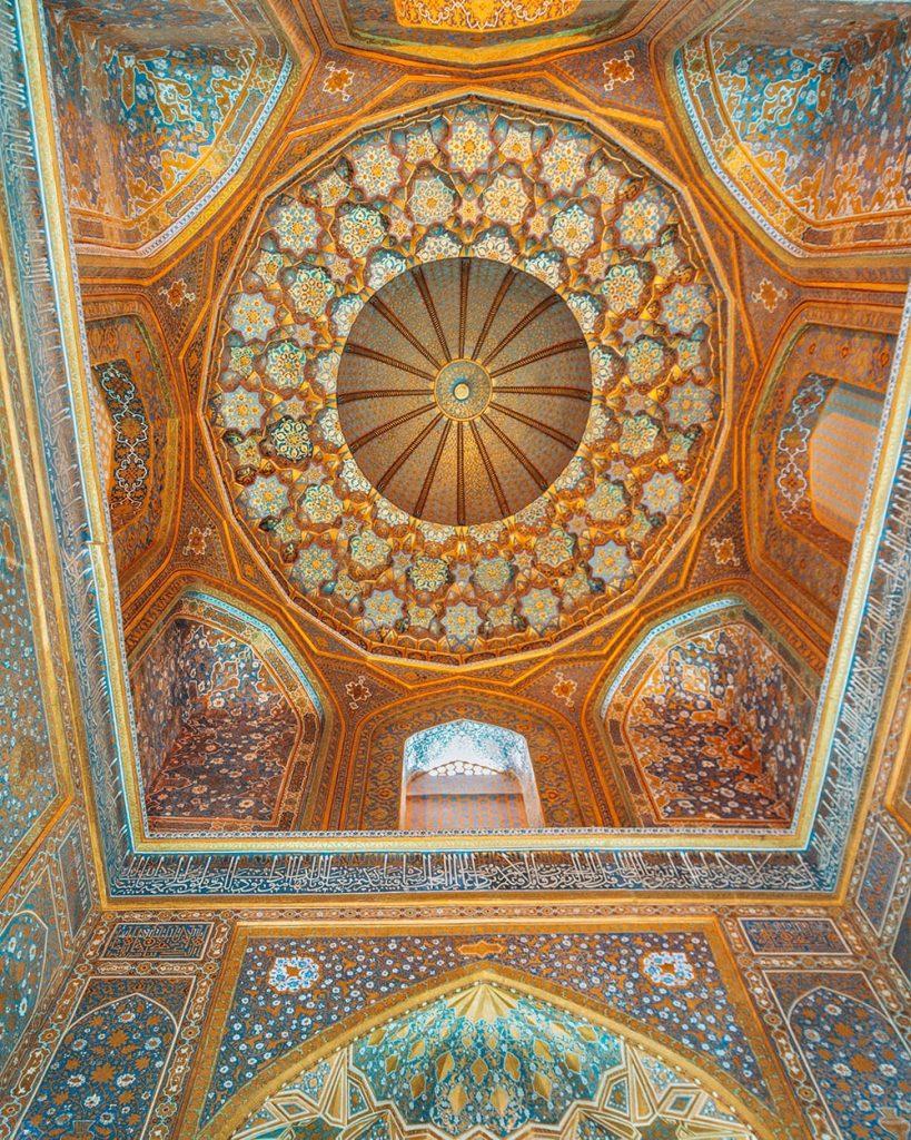 ceiling tile work inside samarkand