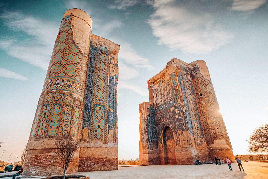 monuments in shahrisabz uzbekistan
