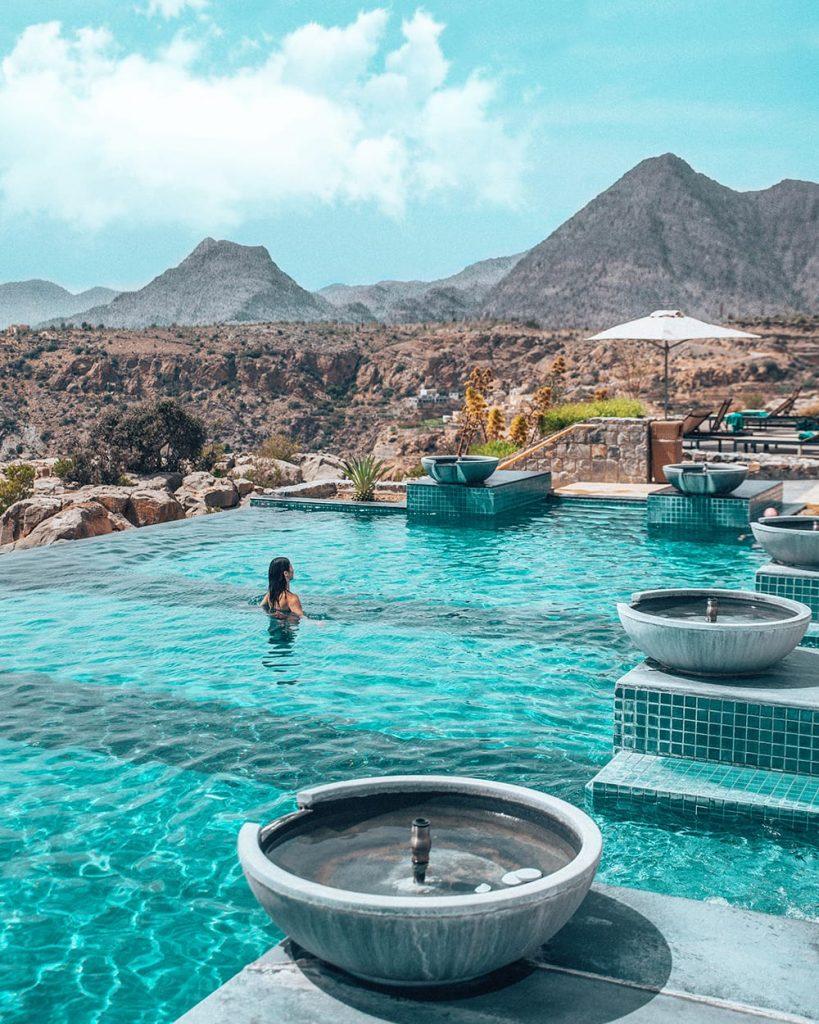 pool in anantara jebel akhdar resort in oman