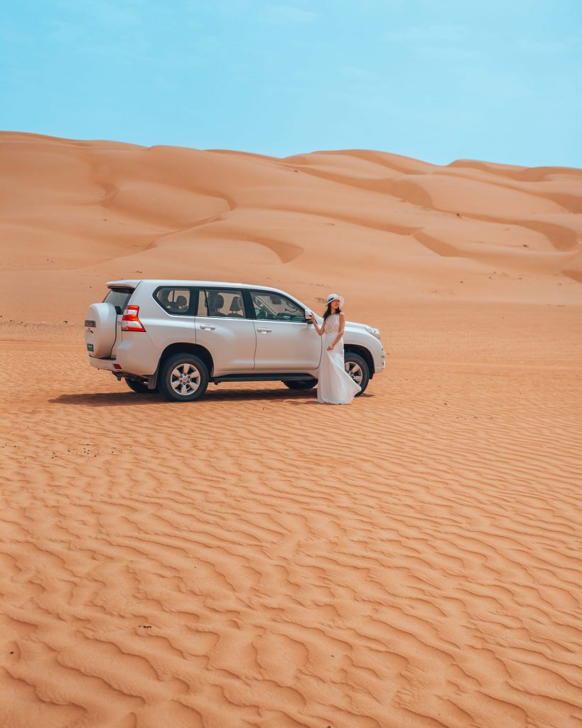 car rental during road trip to wahiba sands desert