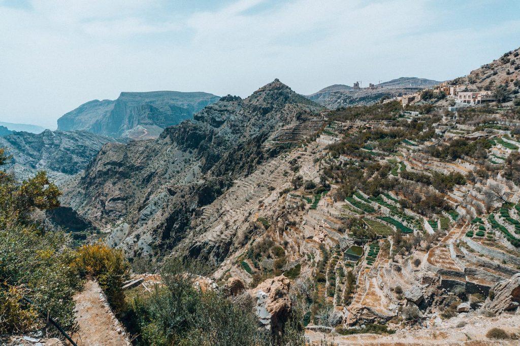 landscape of jabal akhdar mountains