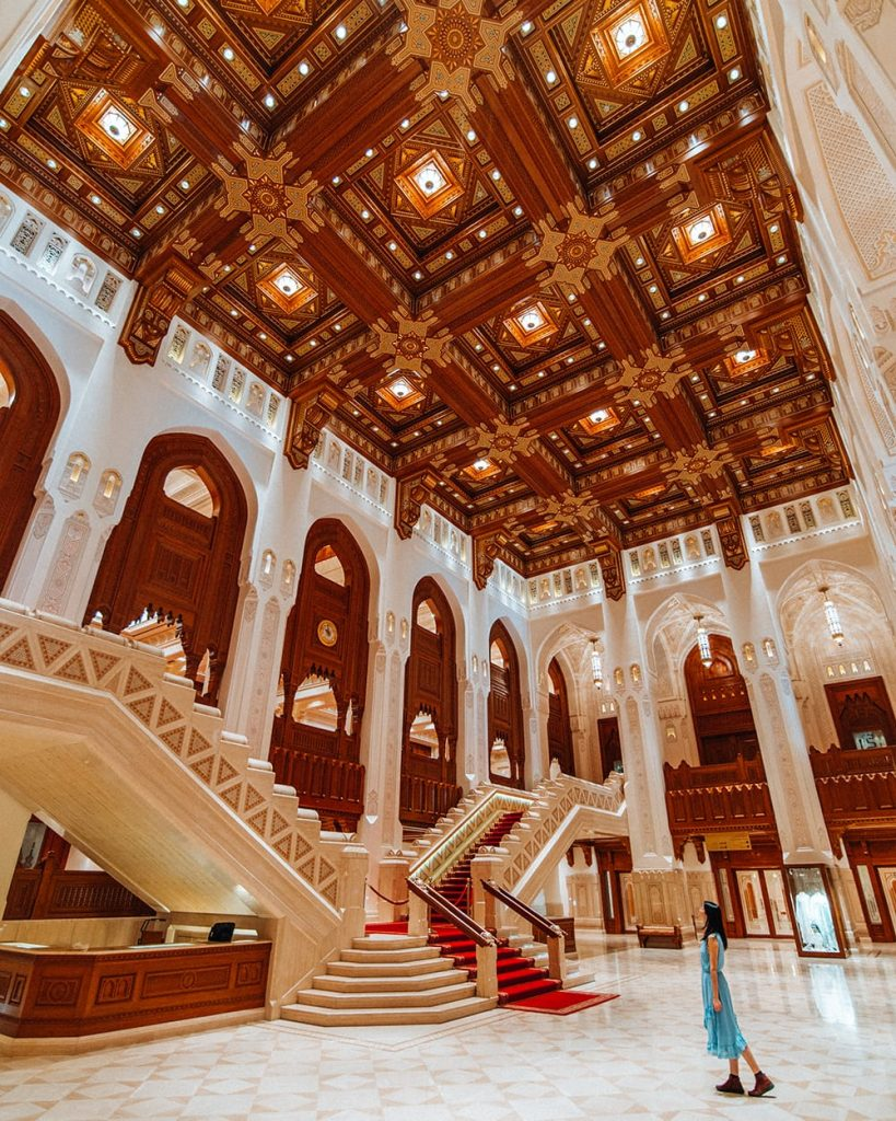 inside the royal opera house in muscat