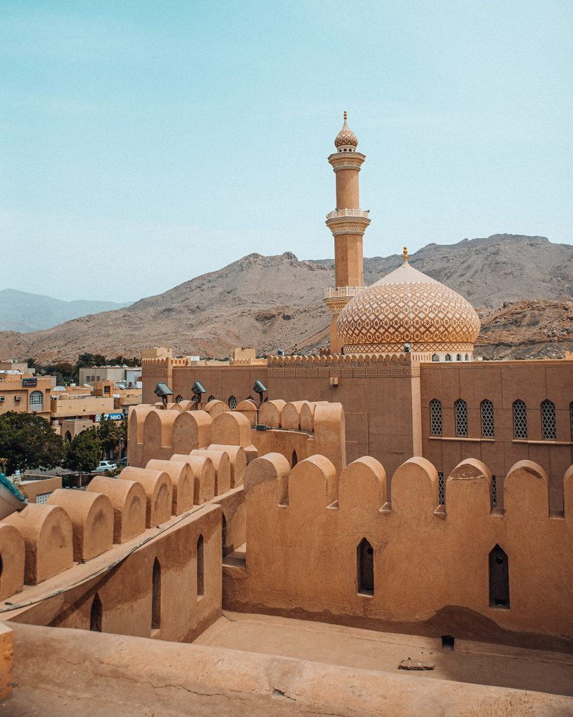 nizwa fort in middle east
