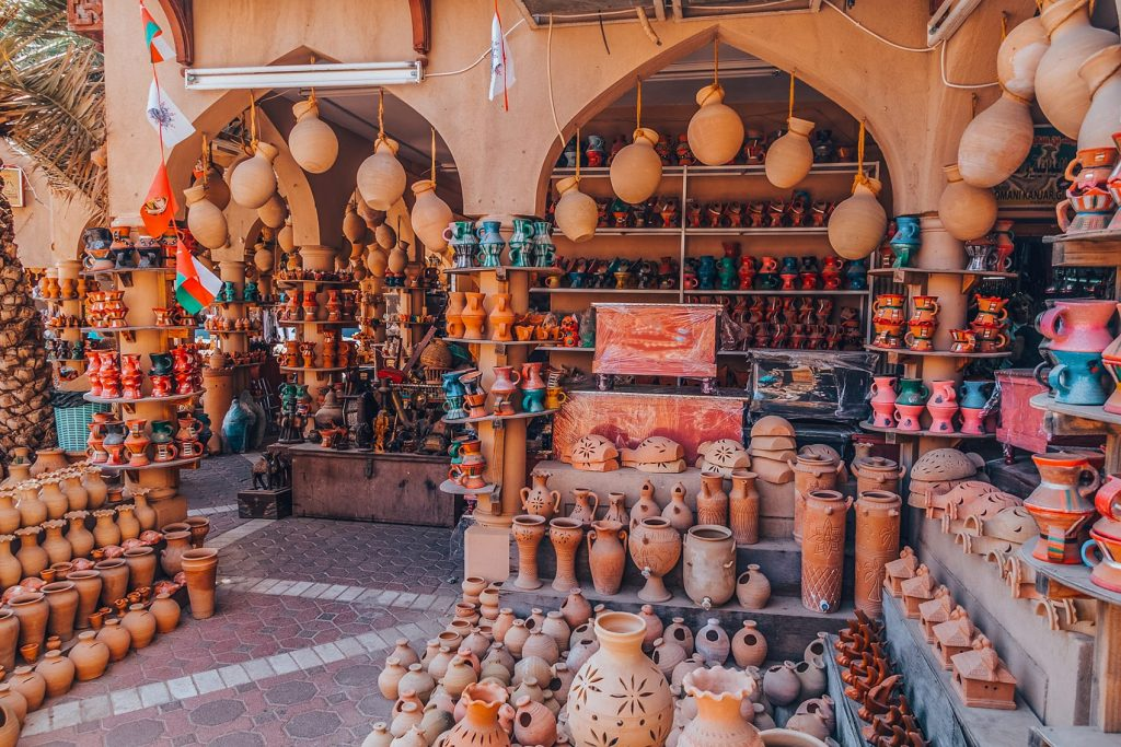 pottery and antique at nizwa souq