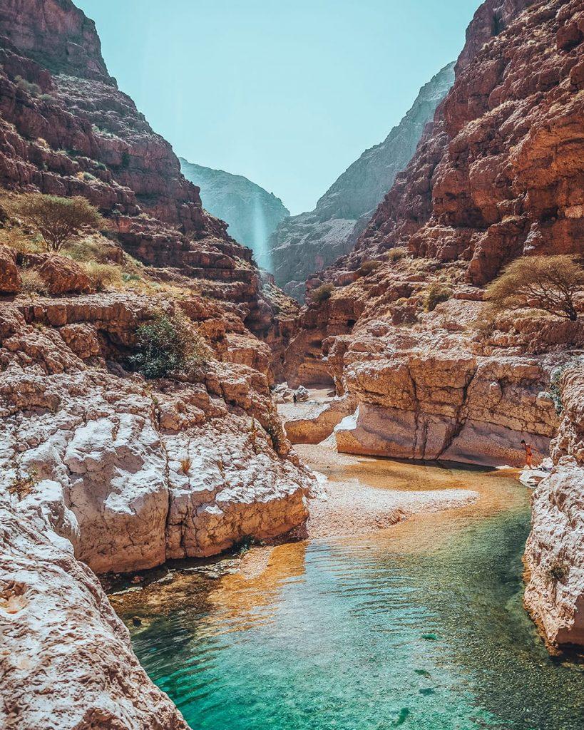 pools and canyons at wadi shab