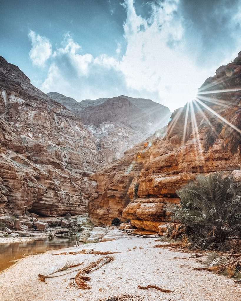 canyons in wadi shab