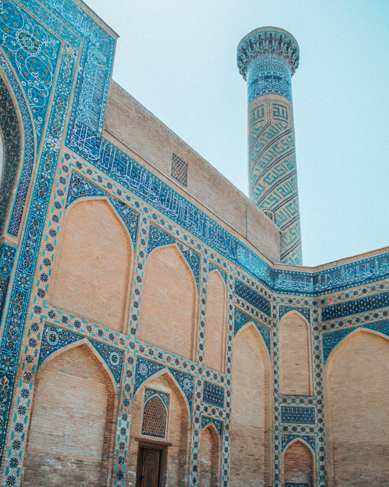 architecture and persian tile work of gur-e-amir mausoleum in samarkand