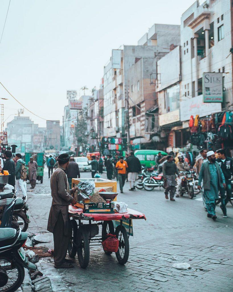 street vendors at the anarkali bazaar in lahore pakistan