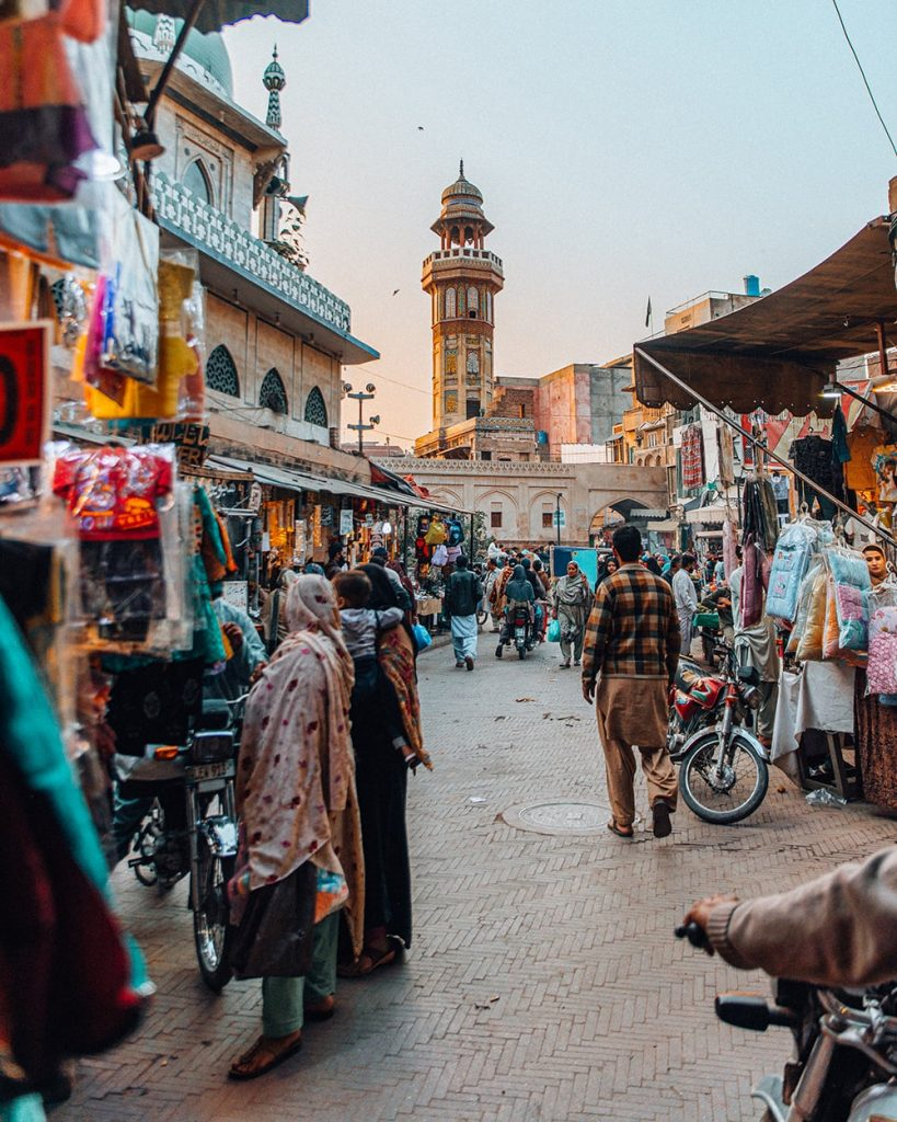a market at delhi gate in lahore pakistan