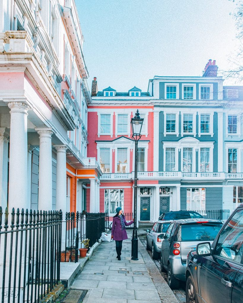 colorful houses in primrose hill in london united kingdom