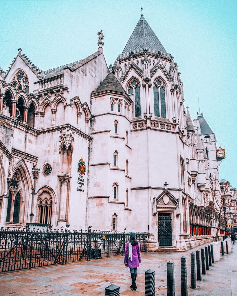 royal courts of justice building in the uk