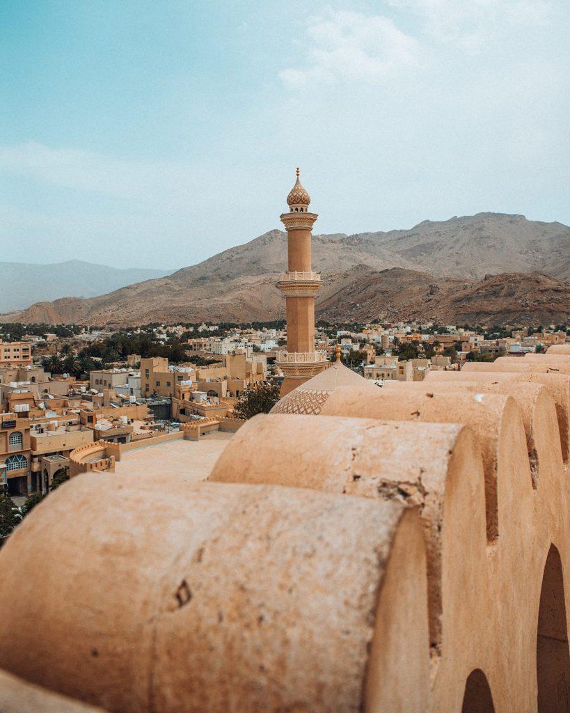nizwa fort view of the city