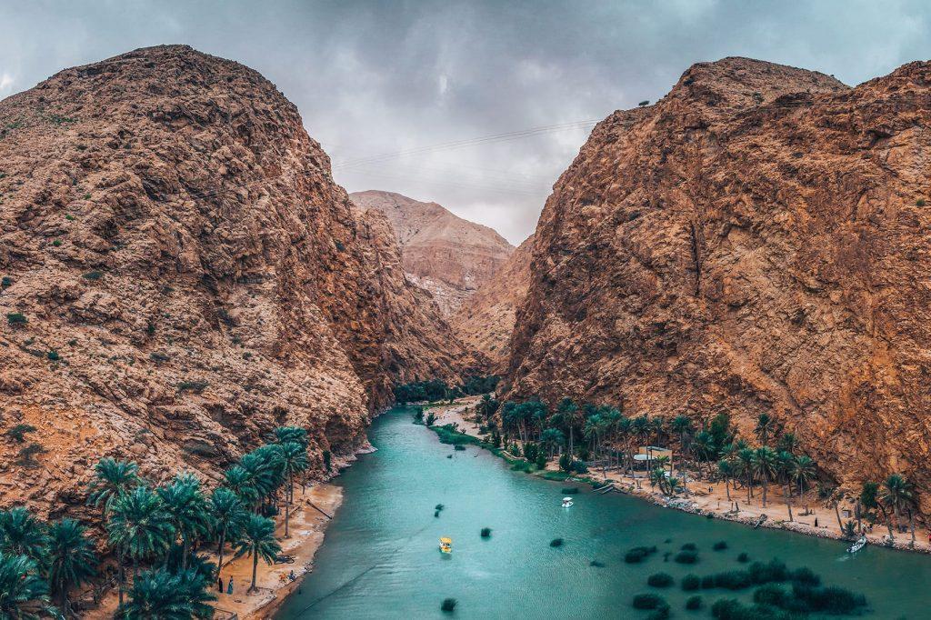 canyons and water at wadi shab
