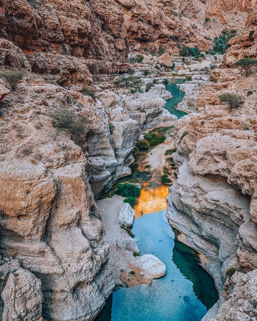 canyons at wadi shab