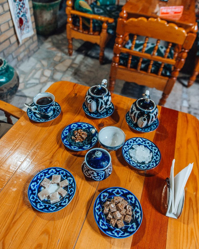uzbekistan sweets at silk road tea house