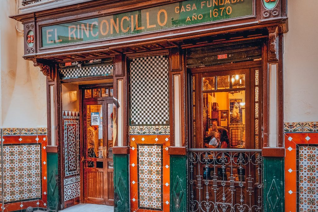 the oldest bar in seville spain called el rinconcillo