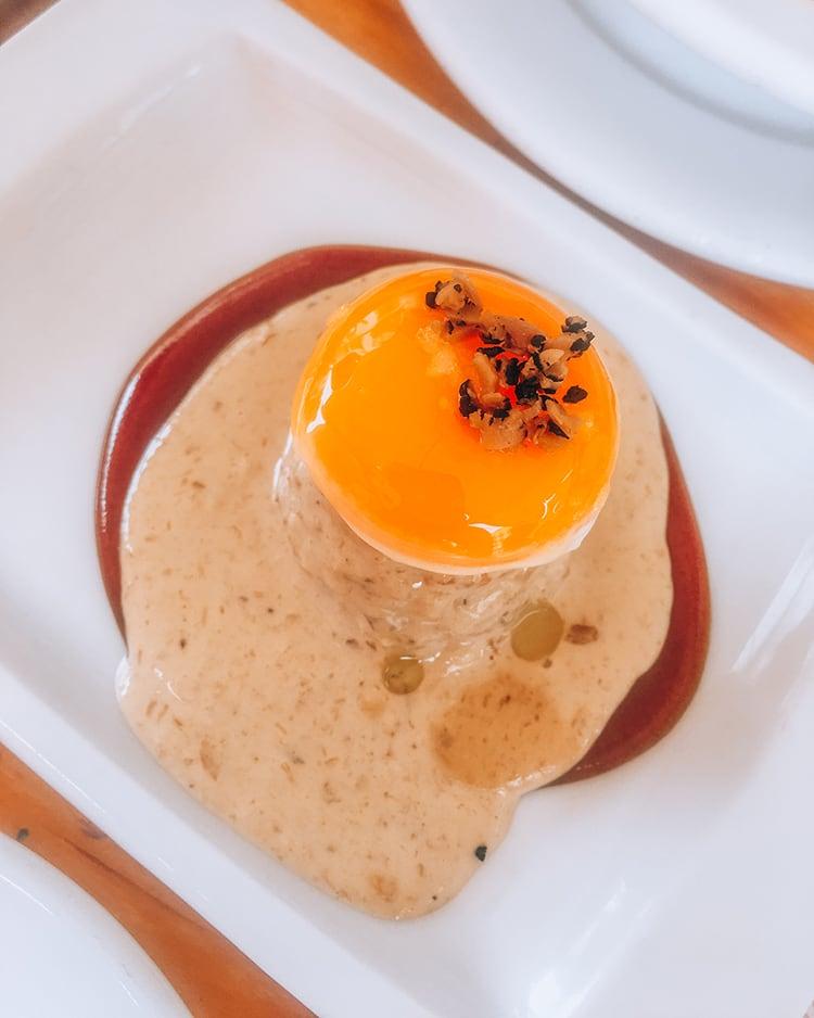 egg tapas in espacio eslava restaurant in seville spain