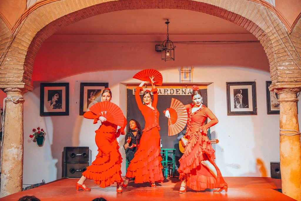 dancers of a flamenco show in spain
