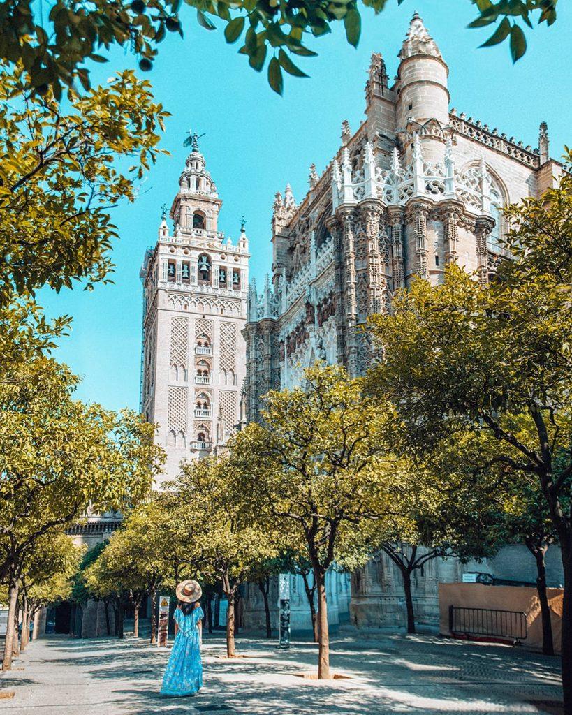 the giralda tower in seville spain