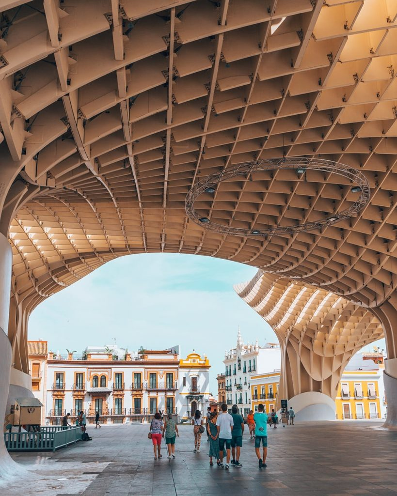 the metropol parasol structure in seville spain