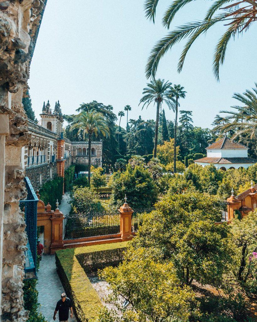 the big garden of royal alcazar of seville spain