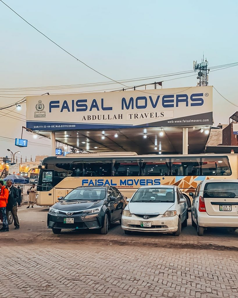 faisal movers bus station in lahore pakistan