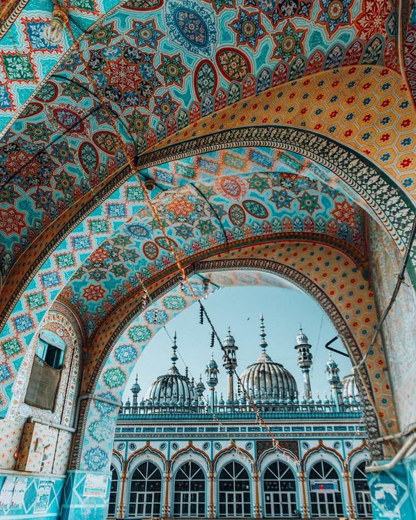 tiles of a mosque in rawalpindi pakistan