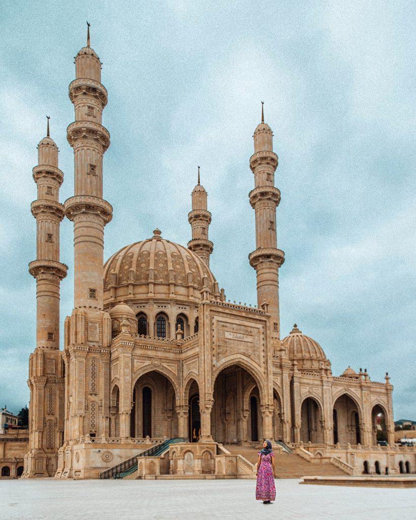 heydar mosque in baku azerbaijan