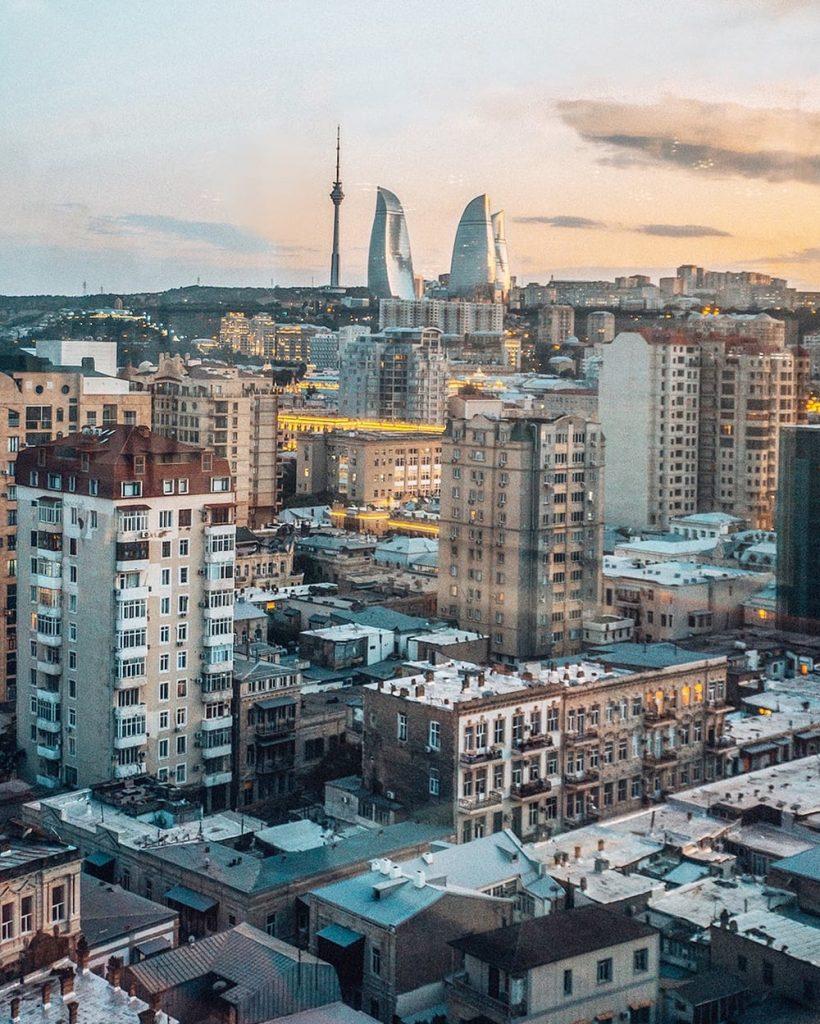 a cityscape of baku azerbaijan