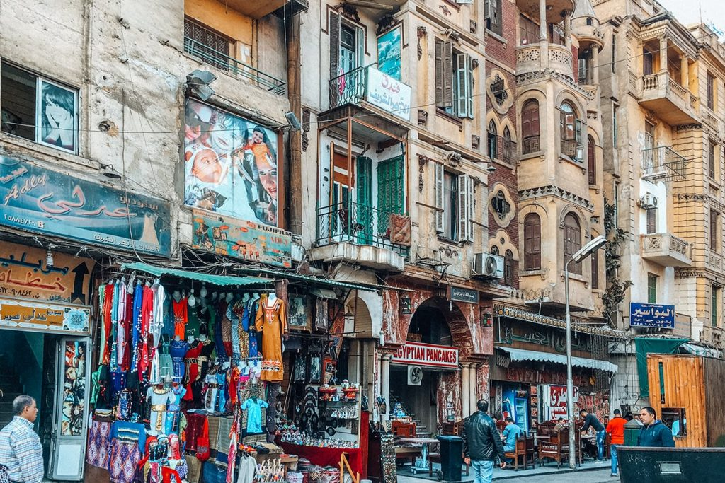 shops on the streets of cairo egypt
