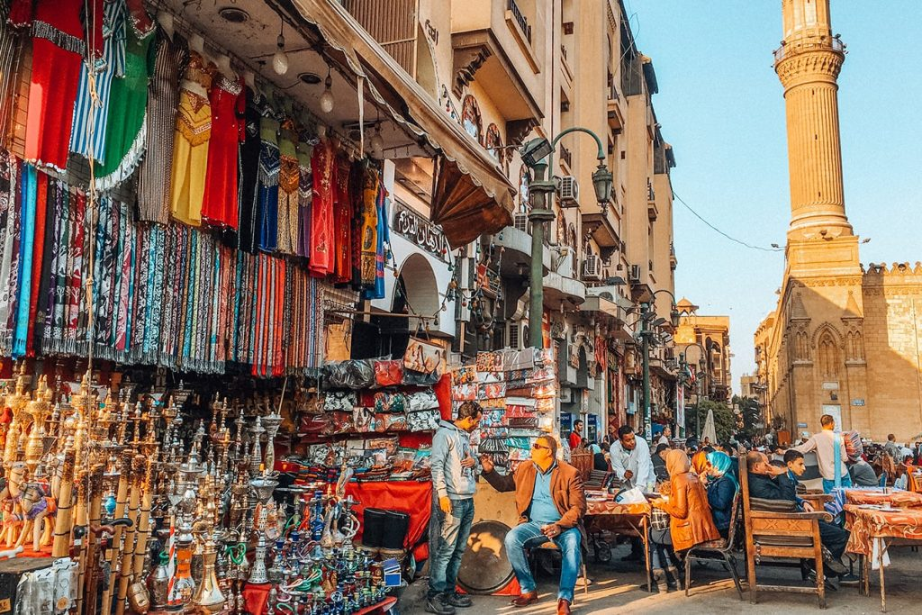 bazaars on the streets of cairo egypt