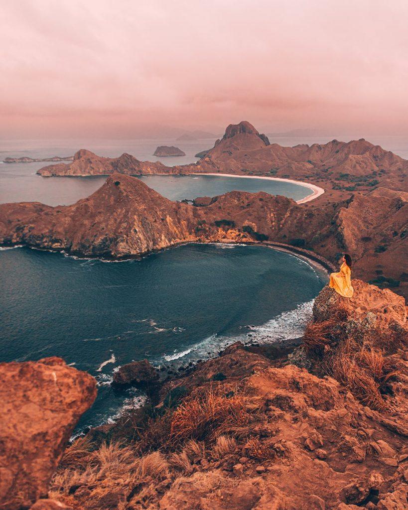 padar island in komodo island indonesia