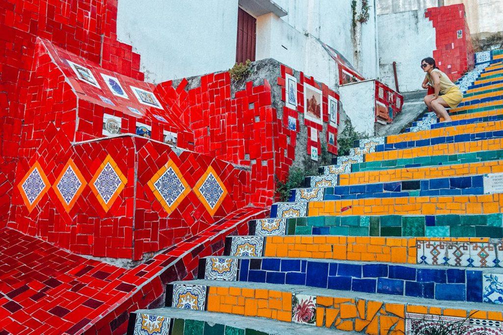 colorful staircase in rio de janeiro brazil