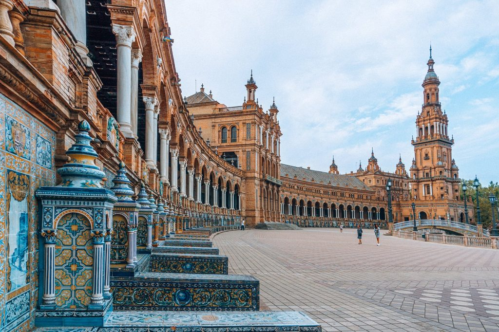 plaza de espana in spain as part of a 3 days in seville itinerary