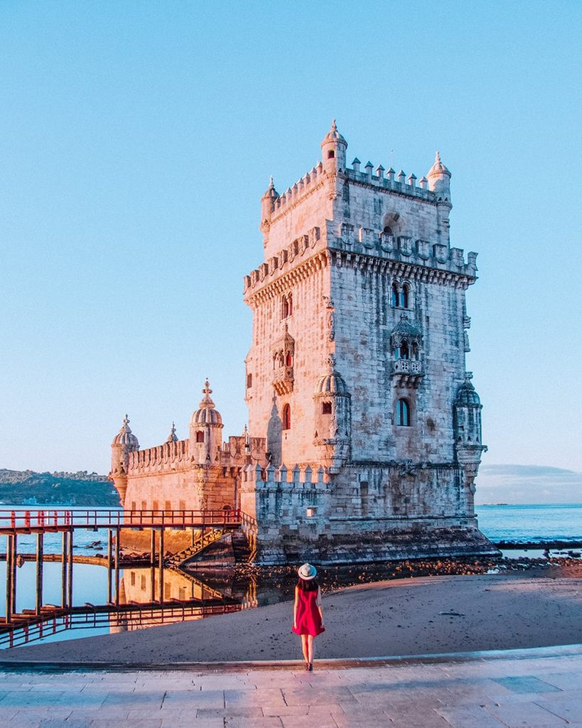 the belem tower in lisbon portugal