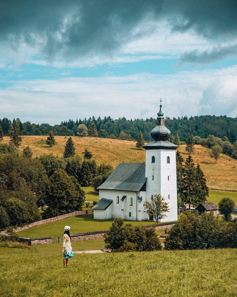 A Church in Kremnické Bane in Slovakia