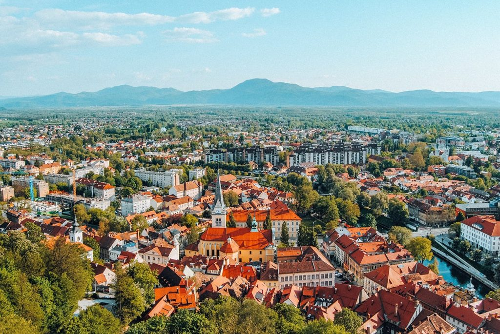 the colorful city of ljubljana slovenia