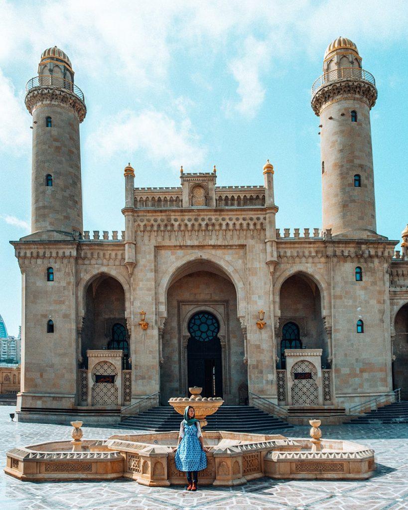 taza pir mosque in baku azerbaijan
