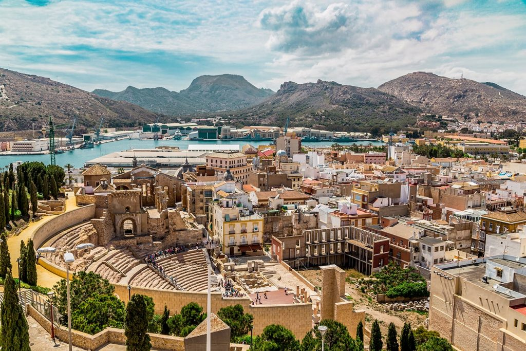 the city and ancient ruins of cartagena spain