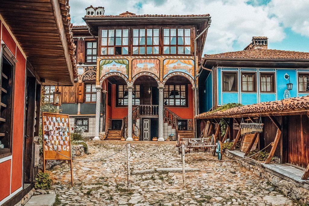 colorful buildings in koprivshtitsa bulgaria