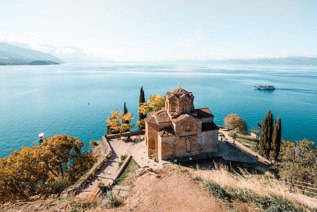 lake ohrid in north macedonia