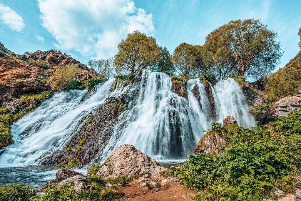 shaki waterfall of armenia