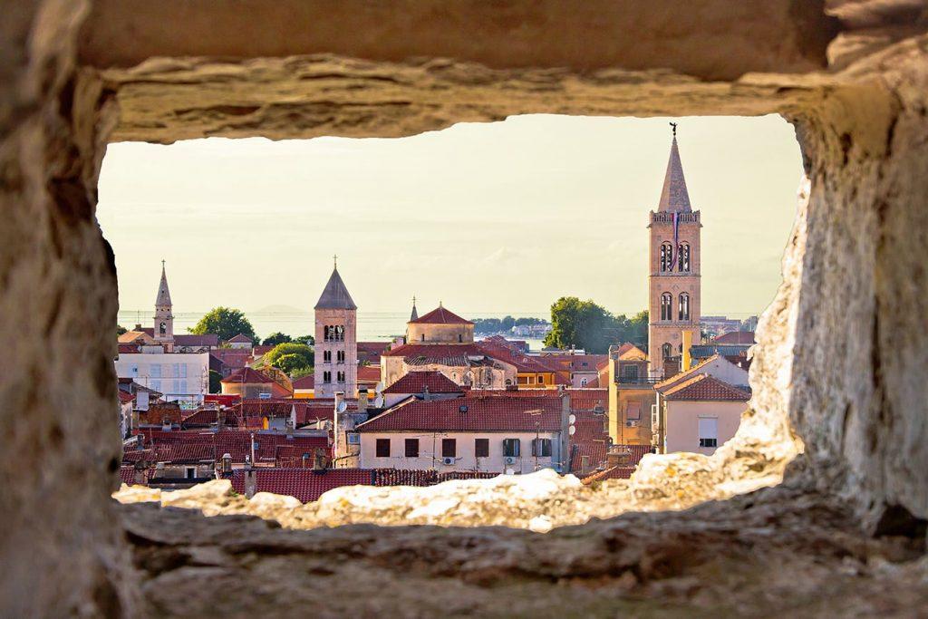 buildings in the town of zadar croatia