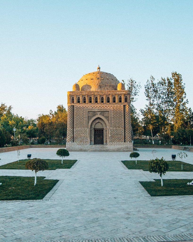 ismail samani mausoleum in bukhara uzbekistan