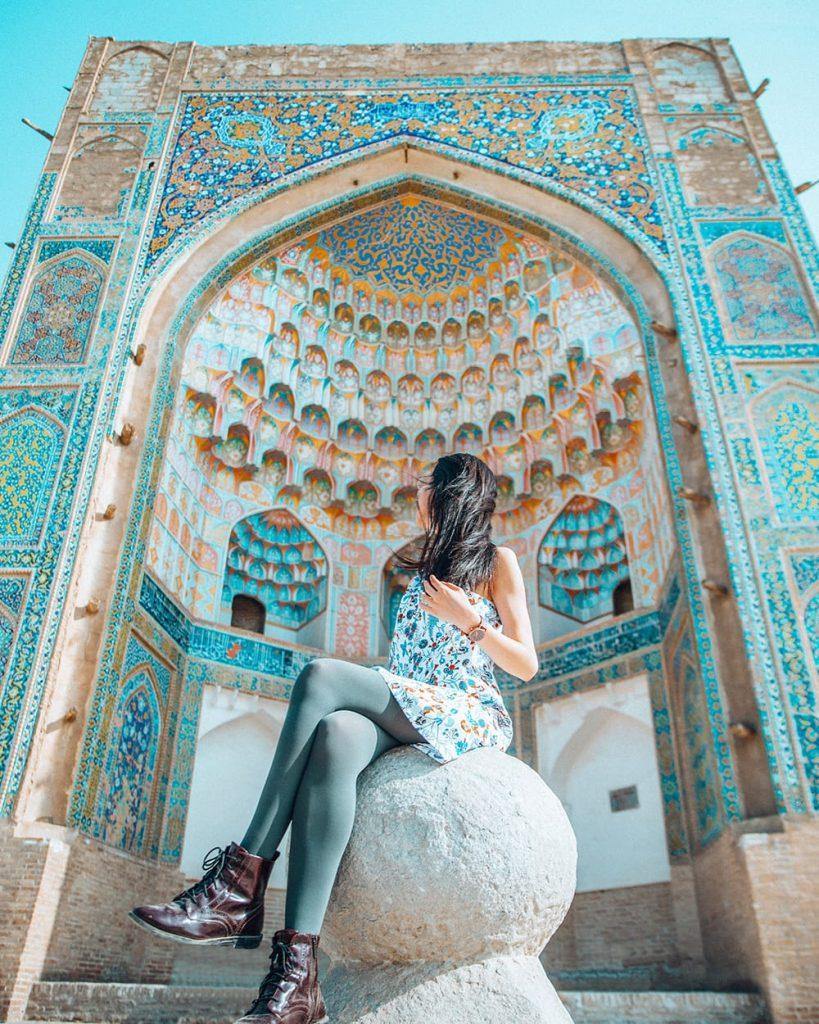the details of abdulaziz-khan madrasah in uzbekistan