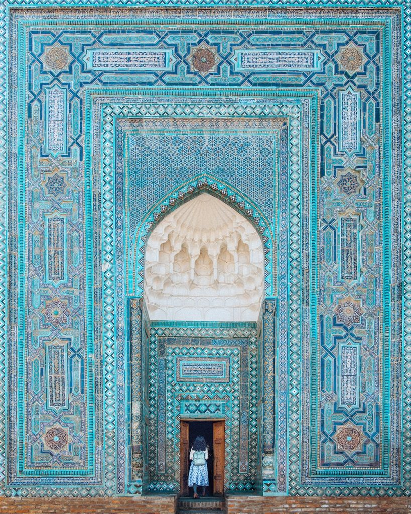 shah i zinda mausoleum in samarkand uzbekistan